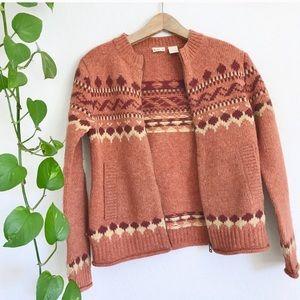 Vintage Wool Pattern Sweater